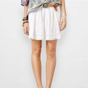 White Lace/Crochet Detail Skirt